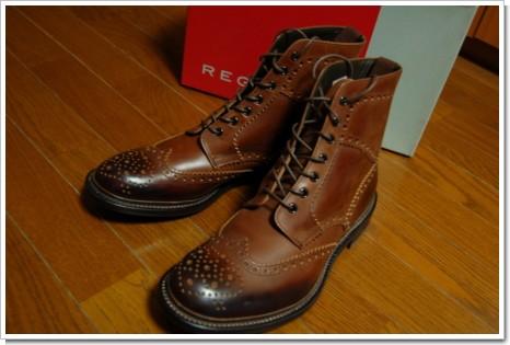 REGAL メンズ ウィングチップ ブーツの写真